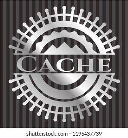 Cache silvery shiny emblem