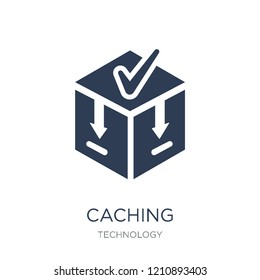 Caching icon. Trendy flat vector Caching icon on white background from Technology collection, vector illustration can be use for web and mobile, eps10