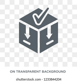 Caching icon. Trendy flat vector Caching icon on transparent background from Technology collection.