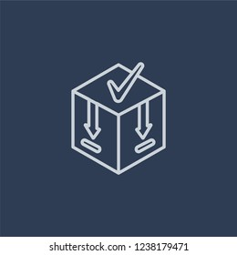 Caching icon. Trendy flat vector line Caching icon on dark blue background from Technology collection.