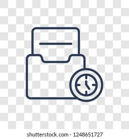 Caching icon. Trendy linear Caching logo concept on transparent background from Technology collection