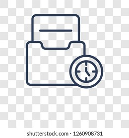 Caching icon. Trendy Caching logo concept on transparent background from Technology collection