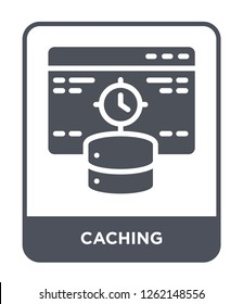 caching icon vector on white background, caching trendy filled icons from Technology collection, caching simple element illustration