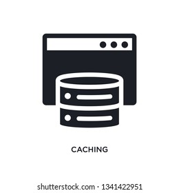 caching isolated icon. simple element illustration from technology concept icons. caching editable logo sign symbol design on white background. can be use for web and mobile