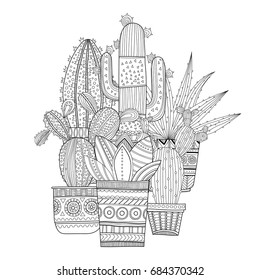 Black And White Illustration For Coloring Books Pages
