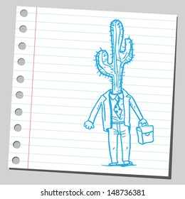 Cactus businessman