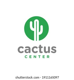 Cactus Center Simple Logo symbol