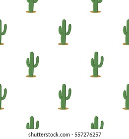 Cactus icon cartoon. Singe western icon from the wild west cartoon.