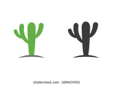 Cactus Icon Logo template vector illustration