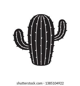 cactus icon vector logo symbol desert flower botanica plant garden summer illustration doodle