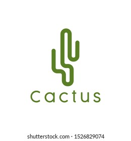 Cactus logo design badges vector Illustrations