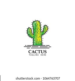 cactus logo template design vector