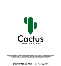cactus logo template vector Illustration
