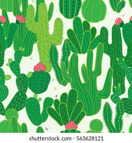 Cactus Seamless Pattern. Mexican seamless pattern. Background Wallpaper