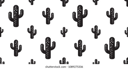 cactus seamless pattern vector Desert botanica flower plant garden summer isolated background repeat wallpaper