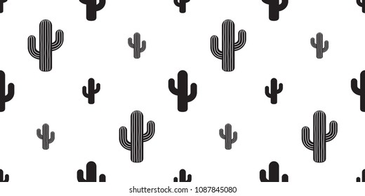 cactus seamless pattern vector flower plant garden Desert botanica summer isolated repeat background wallpaper