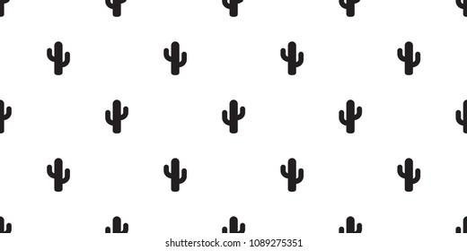 cactus seamless pattern vector flower summer plant garden Desert botanica isolated repeat wallpaper background