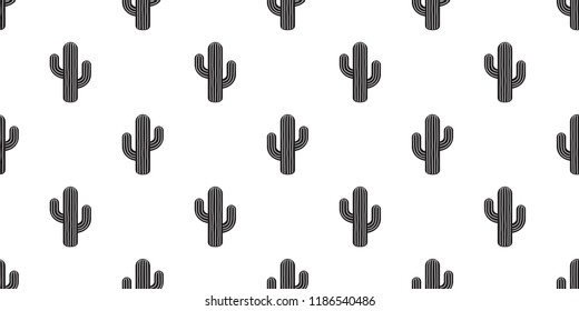 cactus seamless pattern vector flower Desert botanica plant garden summer scarf isolated tile background wallpaper repeat