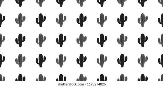 cactus seamless pattern vector flower Desert botanica plant garden summer scarf isolated tile background wallpaper repeat cartoon