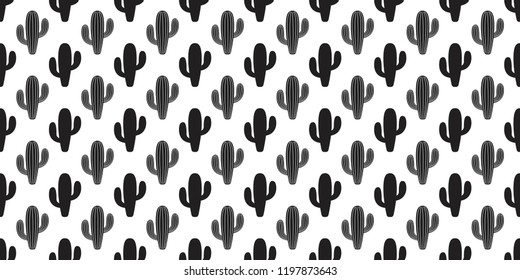 cactus seamless pattern vector flower Desert botanica plant garden scarf cartoon isolated tile background repeat wallpaper