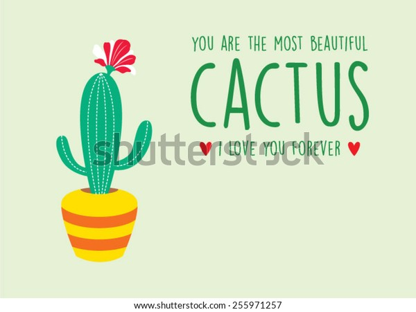 cactus valentine's day gift card