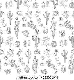 cactus vector pattern