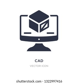 cad icon on white background. Simple element illustration from Technology concept. cad sign icon symbol design.