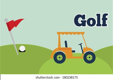 caddie golf design vector illustration