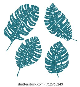 Cadet-blue leaves