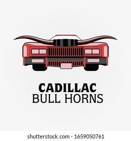 Cadillac Bull Horns illustration with vector
