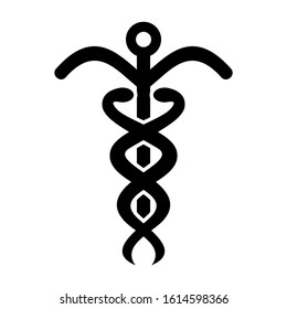 caduceus icon isolated sign symbol vector illustration - high quality black style vector icons