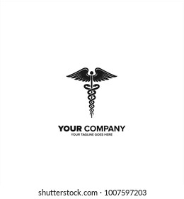 Caduceus, Caduceus logo icon for Medical healthcare conceptual vector illustrations