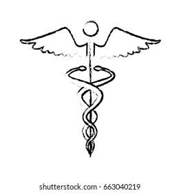 caduceus medical health care symbol