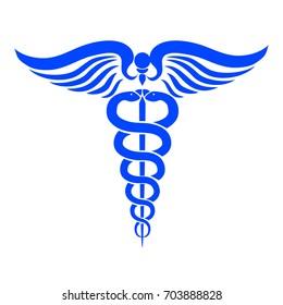 Caduceus medical symbol – stock vector