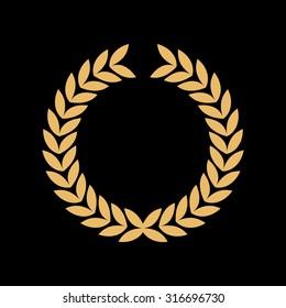 Caesar crown leaf logo vector