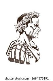 Caesar Julius Roman Empire vector illustration