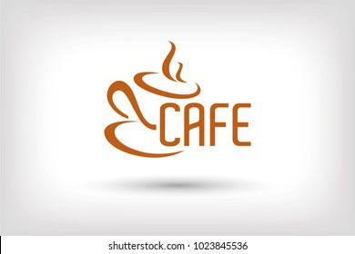 Cafe Icon Logo, Logo Design, Vector Icon Design