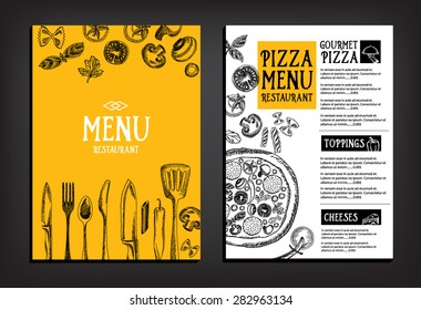 Cafe menu restaurant brochure. Food design template.