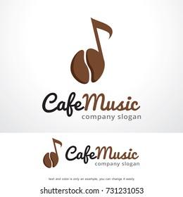 Cafe Music Logo Template