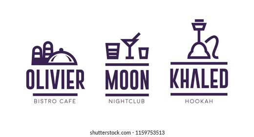 Cafe Nightclub Hookah Bar Logos Design