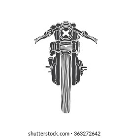 Cafe Racer hand-drawn front view