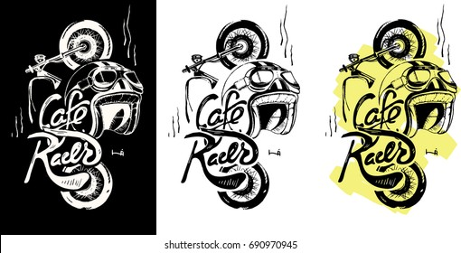 Cafe Racer Drawing Images Stock Photos Vectors Shutterstock