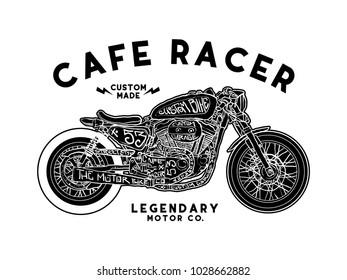 cafe racer t shirt design vector file
