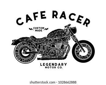 cafe racer t shirt design vector file