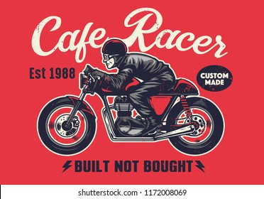 cafe racer t-shirt design in vintage style
