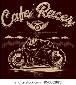 cafe racer,vector graphics for the cool guys