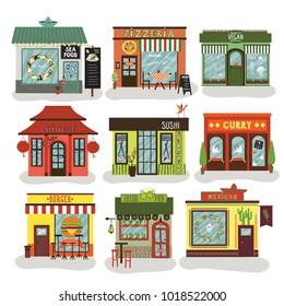 cafe, restaurant, illustration