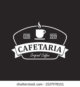 cafetaria coffee logo with vintage style, design concept inspiration