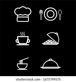Cafe-themed flat designs, simple flat designs, also suitable for minimalist logos
