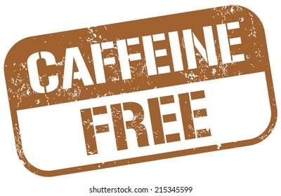caffeine free stamp